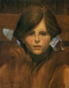 RETRATO DE YVONNE - OST - 42 x 33 cm - c.1909 - LOCALIZAÇÃO DESCONHECIDA