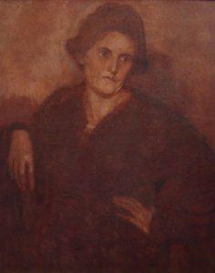 MINHA COMPANHEIRA LOUISE EM SÉPIA - OST - 82 x 66 cm - c.1926 - COLEÇÃO PARTICULAR