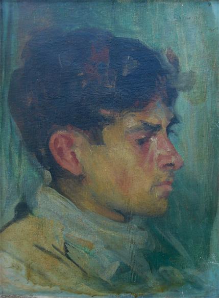 RETRATO DE TOBIAS - OSM - 33,5 x 26,0 cm - c.1927 - MUSEU DE ARTE ASSIS CHATEAUBRIAND DE CAMPINA GRANDE-PB