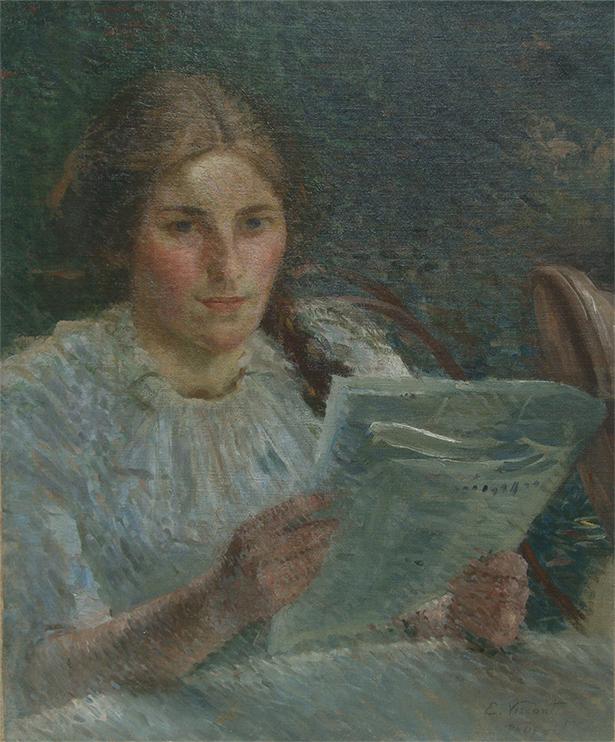 LEITURA - OST - 56 x 46 cm - c.1917 - COLEÇÃO PARTICULAR