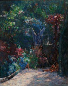 LIÇÃO NO MEU JARDIM - OST - 81 x 65 cm - c.1930 - FUNDAÇÃO EDSON QUEIROZ - FORTALEZA, CE