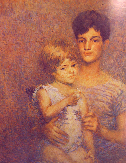 DUAS FIGURAS - OST - 81,5 x 65,5 cm - 1927 - LOCALIZAÇÃO DESCONHECIDA
