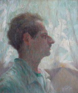 PERFIL DE HOMEM - OST - 46 x 38 cm - 1922 - COLEÇÃO PARTICULAR