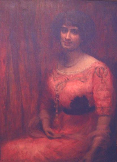 RETRATO DE MME. MARTHE WEIL - OST - 98 x 72 cm - 1912 - COLEÇÃO PARTICULAR