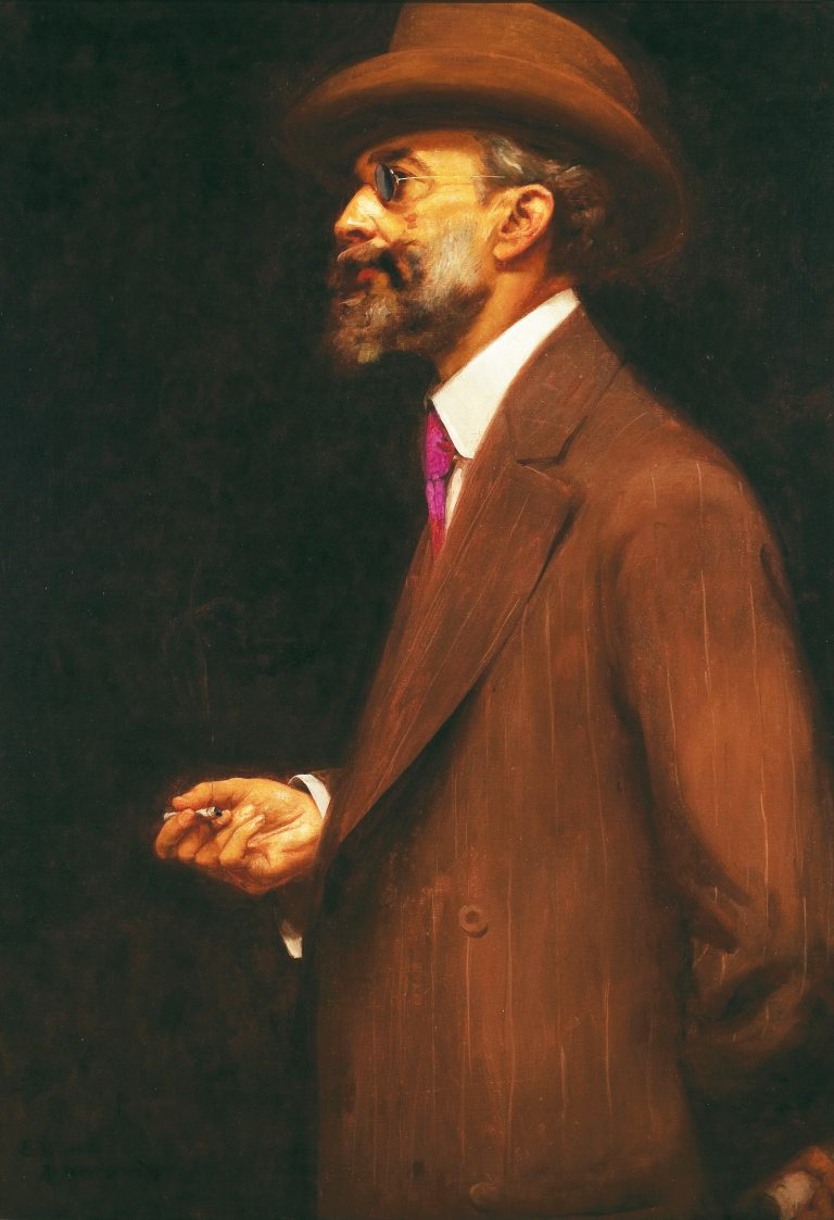 RETRATO DE GONZAGA DUQUE - OST - 92,5 x 65,0 cm - 1910 - MUSEU NACIONAL DE BELAS ARTES - MNBA - RIO DE JANEIRO/RJ
