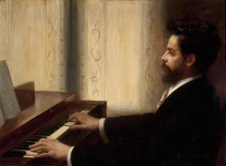 RETRATO DO MAESTRO ALBERTO NEPOMUCENO - OST - 59 x 81 cm - 1895 - INSTITUTO HISTÓRICO E GEOGRÁFICO BRASILEIRO
