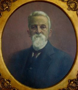 RETRATO DE ERNESTO CÂNDIDO GOMES - OST - 75 x 65 cm - 1924 - ASSOCIAÇÃO COMERCIAL DE SANTOS/SP
