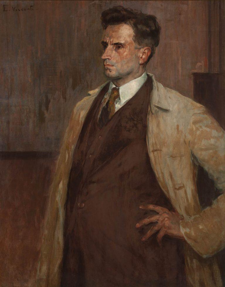 RETRATO DO ESCULTOR JOÃO ZACCO PARANÁ - OST - 81 x 65 cm - c.1925 - MUSEU OSCAR NIEMEYER/ PR
