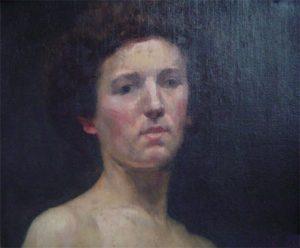 ROSTO DE MULHER - OST - 35 x 45 cm - 1891 - COLEÇÃO PARTICULAR