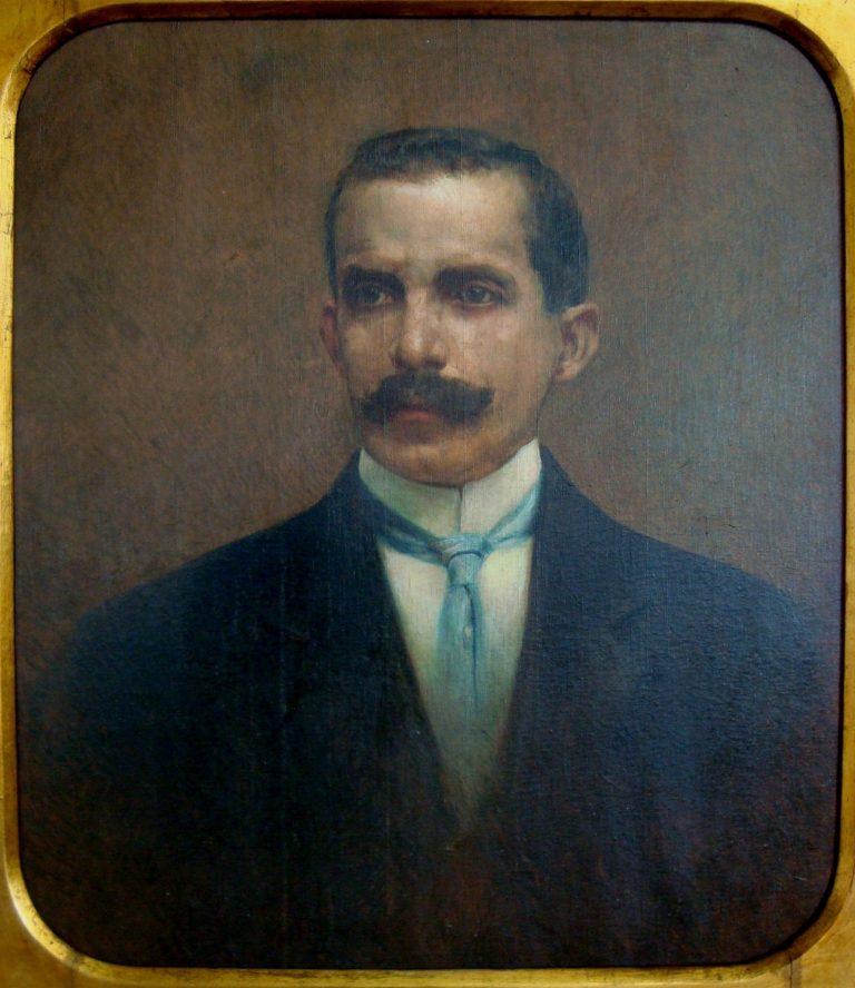 RETRATO DE JOAQUIM MIGUEL MARTINS DE SIQUEIRA - OST - 75 x 65 cm - 1924 - ASSOCIAÇÃO COMERCIAL DE SANTOS/SP