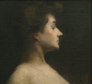 PERFIL DE MULHER - OST - 39 x 41 cm - 1906 - COLEÇÃO PARTICULAR