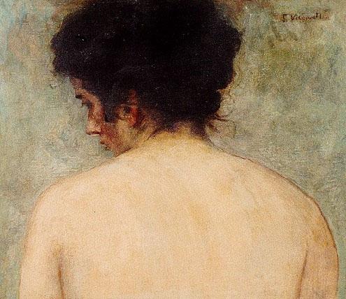 DORSO DE MULHER - OST - 40,8 x 47,8 cm - c.1895 - MUSEU DE ARTE DO RIO GRANDE DO SUL - MARGS