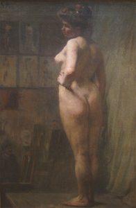 MODELO EM POSE - OST - 80,5 x 53,0 cm - c.1898 - INSTITUTO RICARDO BRENNAND - RECIFE - PE