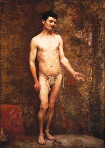 NU MASCULINO – OST - 110 x 76 cm - 1892 - MUSEU DOM JOÃO VI/ESCOLA DE BELAS ARTES-UFRJ