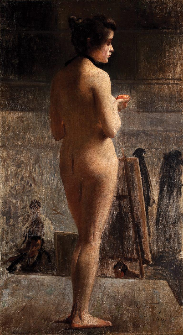 NU FEMININO - OST - 81,3 x 45,0 cm - 1894 - MUSEU DOM JOÃO VI/ESCOLA DE BELAS ARTES-UFRJ