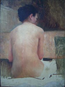 NU FEMININO DE COSTAS - OST - 80,7 x 50,7 cm - c.1894 - MUSEU DOM JOÃO VI/ESCOLA DE BELAS ARTES - UFRJ