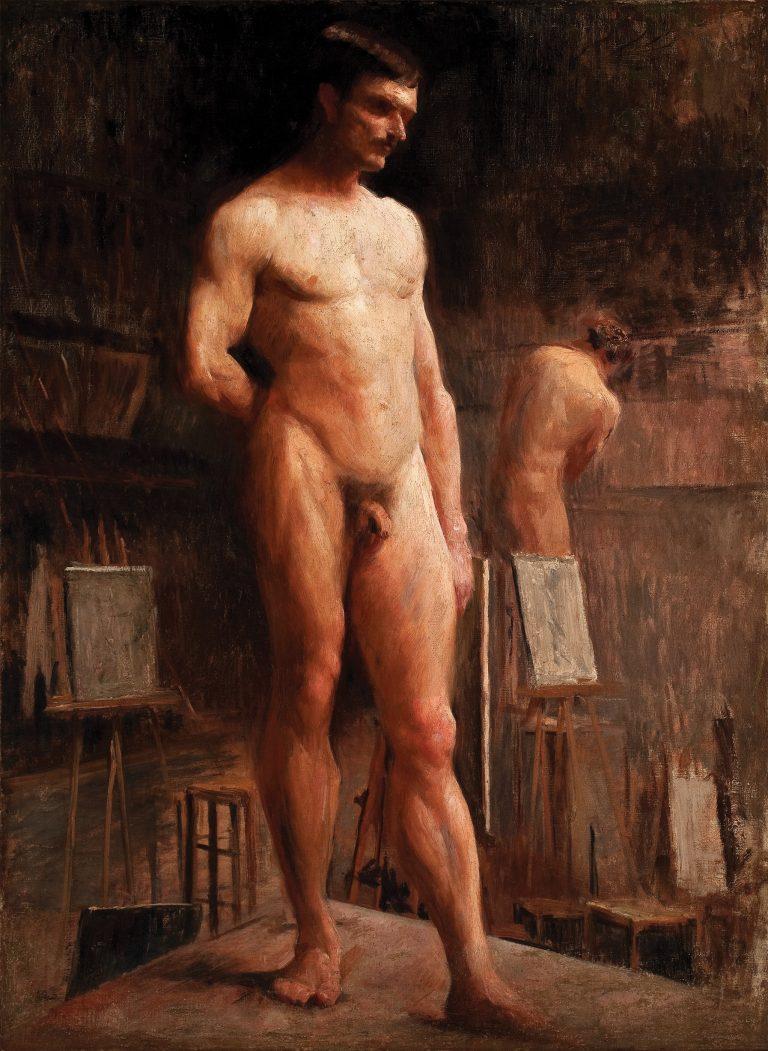 NU MASCULINO DE FRENTE - OST - 80,0 x 58,7 cm - c.1893 - MUSEU DOM JOÃO VI/ESCOLA DE BELAS ARTES-UFRJ