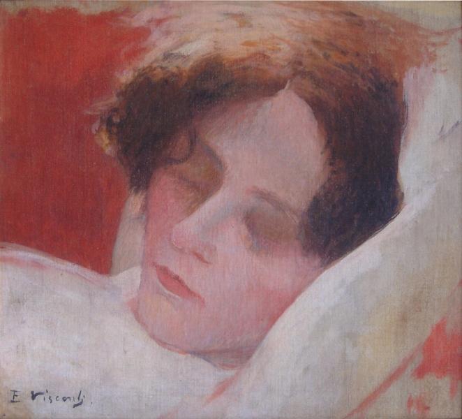"""CABEÇA - ESTUDO PARA """"FATIGADA"""" - OST - 26,5 x 27,5 cm - c.1897 - PINACOTECA PIMENTEL JUNIOR DE RIO CLARO - SP"""