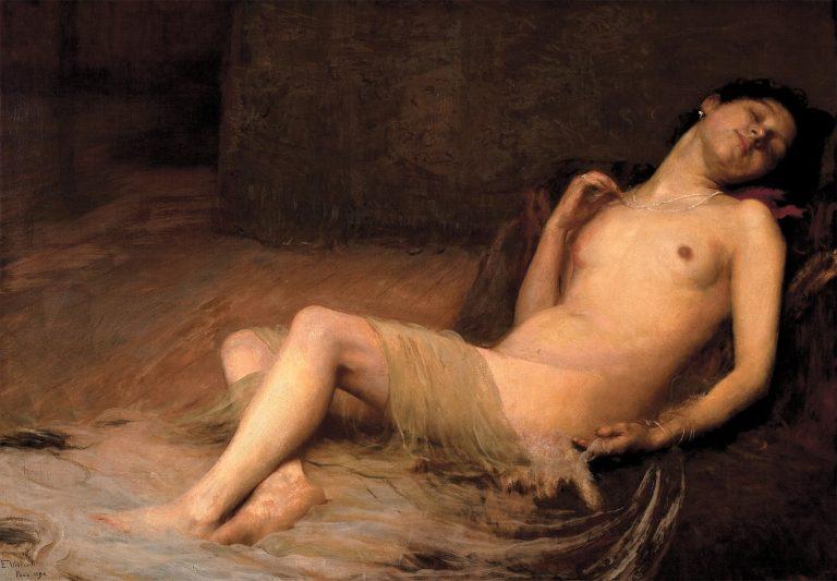NU DEITADO - OST - 91,7 x 130,5 cm - 1896 - MUSEU NACIONAL DE BELAS ARTES - MNBA - RIO DE JANEIRO/RJ