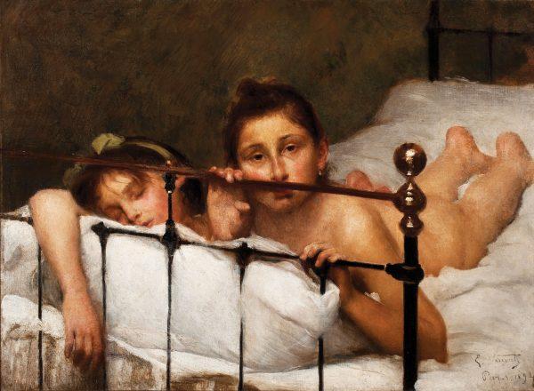 AS DUAS IRMÃS ou NO VERÃO - OST - 58,9 x 80,4 cm - 1894 - MUSEU NACIONAL DE BELAS ARTES - MNBA - RIO DE JANEIRO/RJ