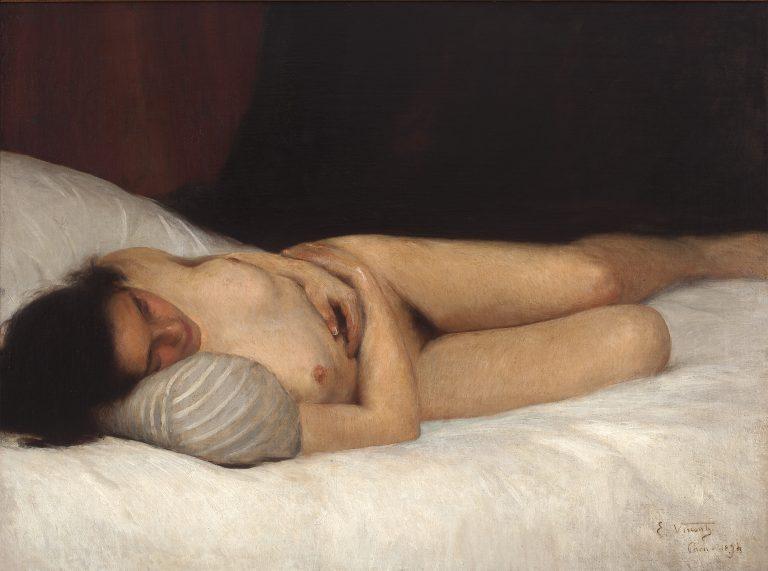 NU FEMININO - OST - 59,5 x 81,0 cm - 1894 - COLEÇÃO PARTICULAR