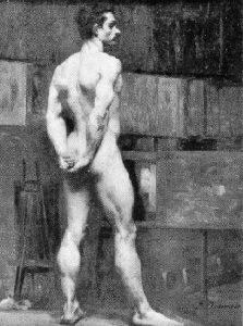 NU MASCULINO DE COSTAS - OST - 80,5 x 58,0 cm - c.1896 - LOCALIZAÇÃO DESCONHECIDA