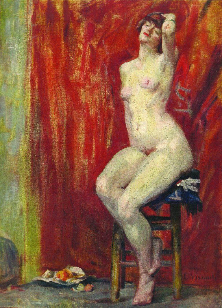 NU SENTADO - OST - 61 x 44 cm - 1904 - LOCALIZAÇÃO DESCONHECIDA