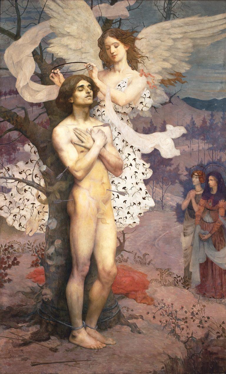 RECOMPENSA DE SÃO SEBASTIÃO - OST - 218,8 x 133,9 cm - 1898 - MUSEU NACIONAL DE BELAS ARTES - MNBA - RIO DE JANEIRO/RJ