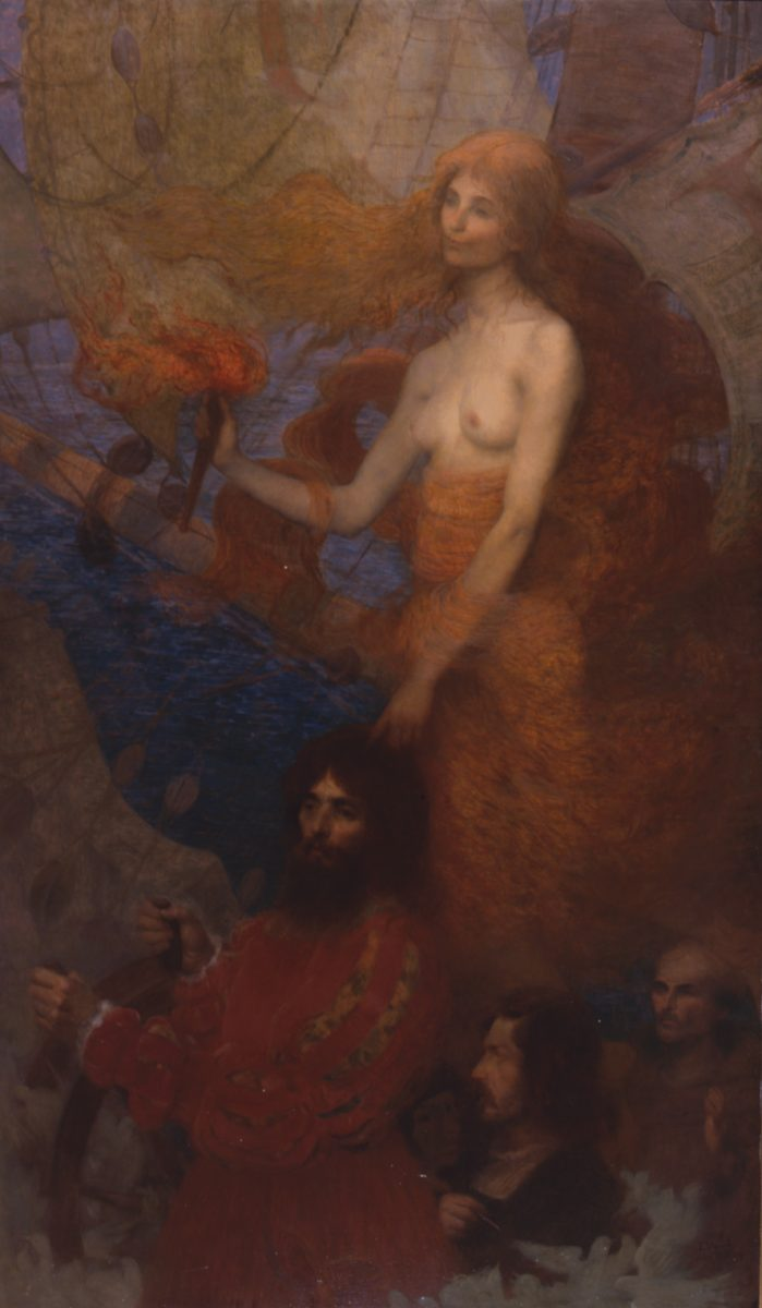A PROVIDÊNCIA GUIA CABRAL - OST - 180 x 108 cm - 1899 - PINACOTECA DO ESTADO DE SÃO PAULO