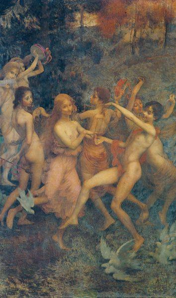 ORÉADAS - OST - 182,2 x 108,0 cm - 1899 - MUSEU NACIONAL DE BELAS ARTES - MNBA - RIO DE JANEIRO/RJ - MEDALHA DE PRATA NA EXPOSIÇÃO UNIVERSAL DE PARIS EM 1900