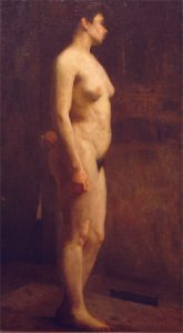 NU FEMININO - OST - 81 x 45 cm - 1897 - COLEÇÃO PARTICULAR