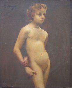 NU DE PÉ - OST - 55 x 46 cm - 1892 - COLEÇÃO PARTICULAR