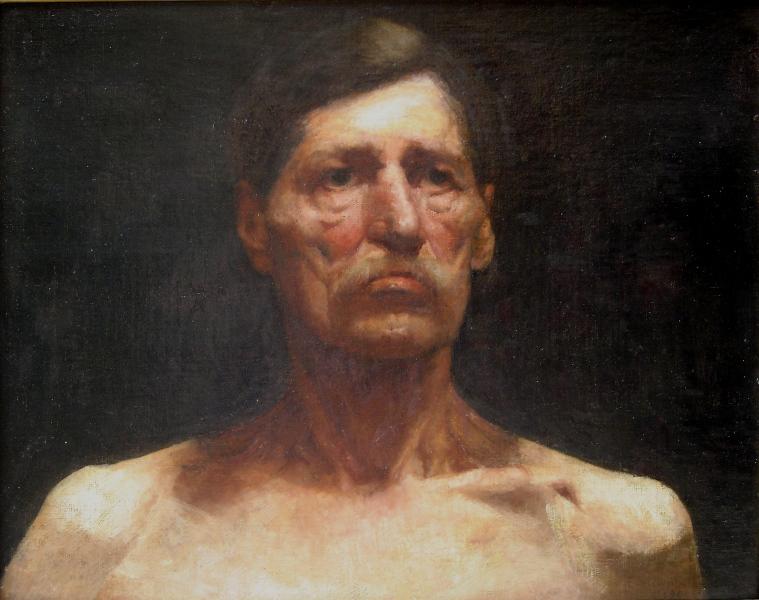 BUSTO DE HOMEM - OST - 46,0 x 54,5 cm - c.1900 - COLEÇÃO PARTICULAR
