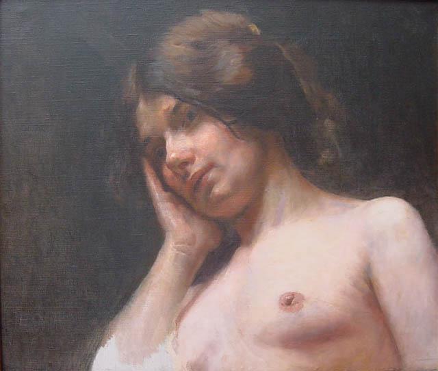 BUSTO FEMININO - OST - 39 x 46 cm - c.1898 - COLEÇÃO PARTICULAR