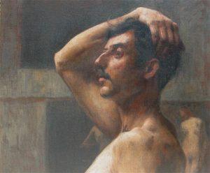 BUSTO MASCULINO - OST - 46 x 55 cm - c.1898 - COLEÇÃO PARTICULAR