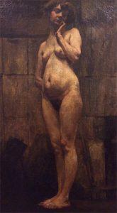 NU FEMININO - OST - 80 x 44 cm - c.1895 - COLEÇÃO PARTICULAR