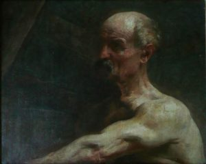BUSTO DE HOMEM - OST - 49,0 x 58,5 cm - c.1895 - COLEÇÃO PARTICULAR