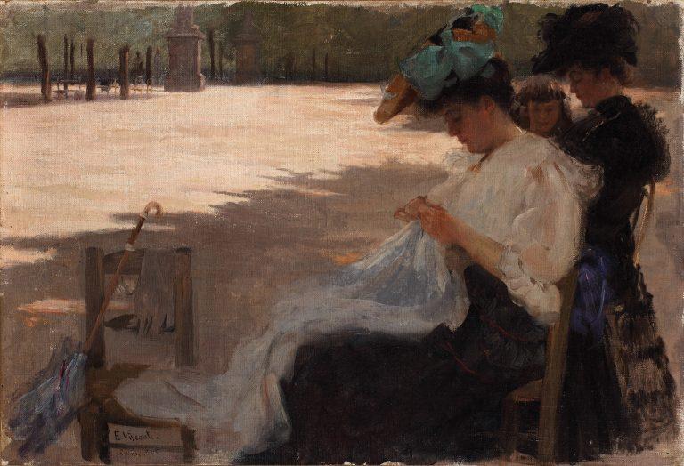 JARDIM DO LUXEMBURGO - OST - 33,5 x 49,0 cm - 1905 - COLEÇÃO PARTICULAR