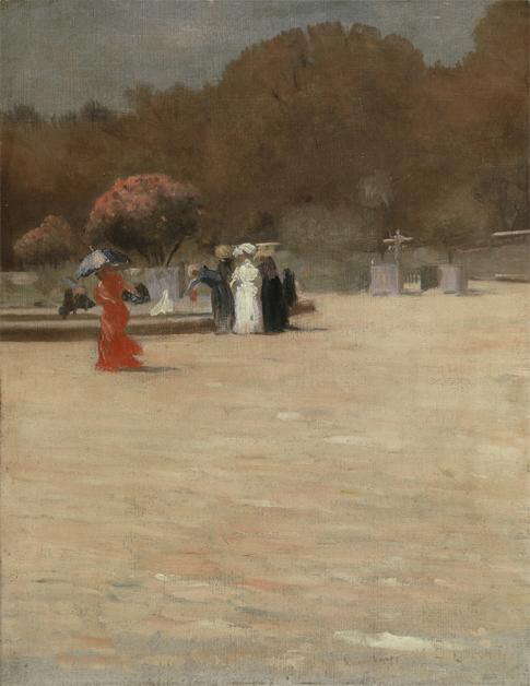JARDIM DO LUXEMBURGO - OST - 40 x 31 cm - c.1905 - COLEÇÃO PARTICULAR