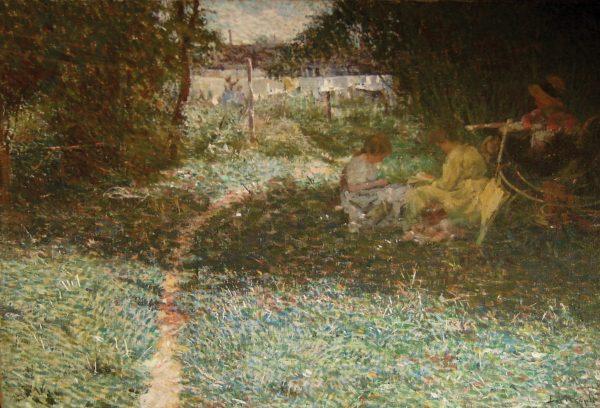 SOB A FOLHAGEM - OST - 60 x 82 cm - c.1913 - COLEÇÃO PARTICULAR