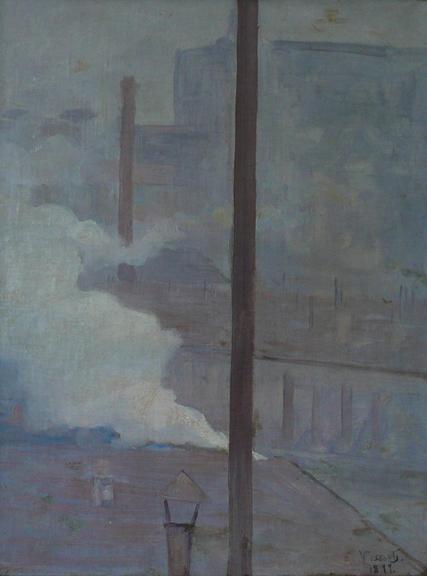 TELHADOS DE PARIS - OSM - 38,5 x 30,0 cm - 1899 - COLEÇÃO PARTICULAR