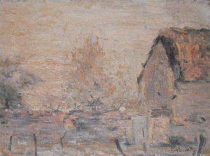 PAISAGEM DE SAINT HUBERT - OSM - 25 x 33 cm - c.1916 - COLEÇÃO PARTICULAR