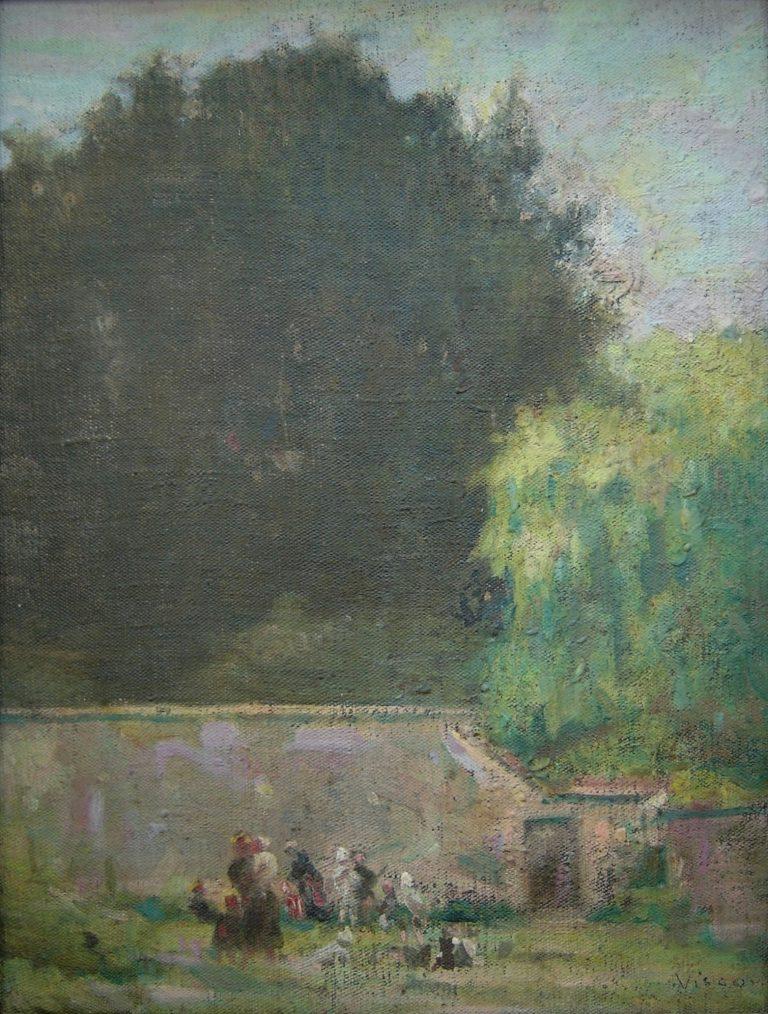MURO DO QUINTAL - OST - 35 x 25 cm - c.1916 - MUSEU DE ARTE ASSIS CHATEAUBRIAND DE CAMPINA GRANDE-PB