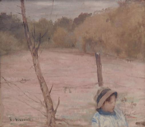 MEU FILHO TOBIAS NO CAMPO - OSC - 27 x 31 cm - c.1914 - COLEÇÃO PARTICULAR