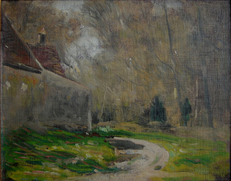 RUE DE LA HAIE AUX VACHES, SAINT HUBERT - FORÊT DE RAMBOUILLET - OST - 24,0 x 28,5 cm - c.1918 - COLEÇÃO PARTICULAR