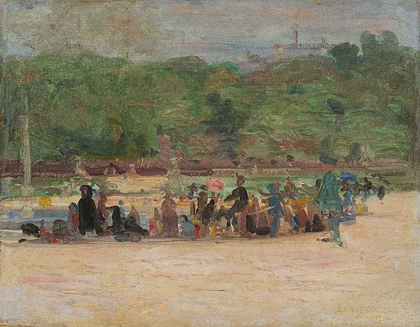 LE JARDIN DU LUXEMBOURG À PARIS - OST - 27,5 x 35,0 cm - 1920 - COLEÇÃO PARTICULAR