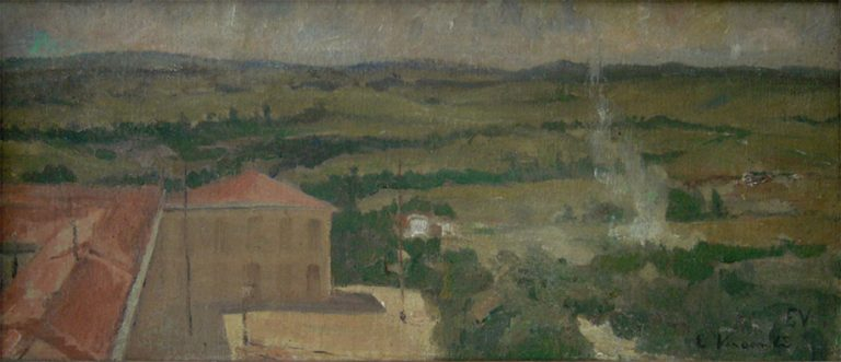 PAISAGEM DE ESPANHA - OST - 21 x 47 cm - c.1896 - COLEÇÃO PARTICULAR