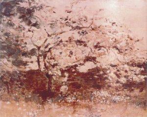 MACIEIRA EM FLOR - OST - 28 x 34 cm - c.1918 - LOCALIZAÇÃO DESCONHECIDA
