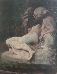 FONTE DE MÉDICIS - JARDIM DO LUXEMBURGO - OSM - 25 x 20 cm - c.1895 - COLEÇÃO PARTICULAR