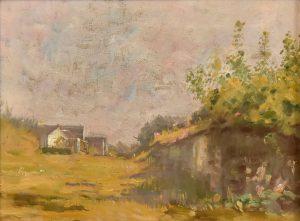"""SAINT HUBERT - ESTUDO PARA """"RONDA DE CRIANÇAS"""" - OST - 26 x 34 cm - c.1918 - COLEÇÃO PARTICULAR"""